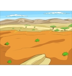 Educational game African savannah background vector