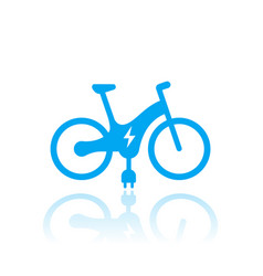 Electric bike icon on white vector