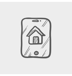 Electronic keycard sketch icon vector