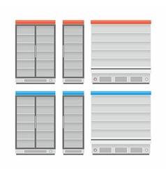 Empty Showcase Refrigerator vector