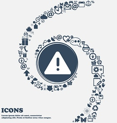 exclamation mark Attention caution icon in the vector image