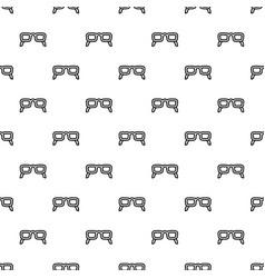 eye glasses pattern seamless vector image