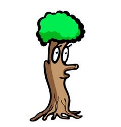 Funny tree vector image