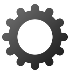 Gear Gradient Icon vector image