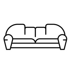 hall sofa icon outline style vector image