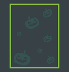 Halloween theme for frame collection vector
