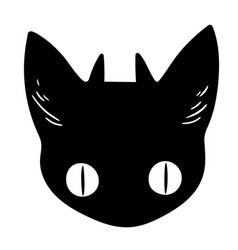 head a black animal with horns vector image