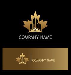 Home building canada gold logo vector
