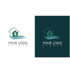 home money wave logo vector image