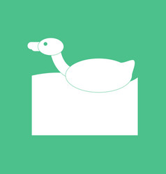 Icon on background duck silhouette vector