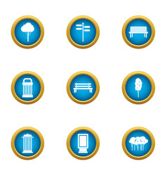 Imagery icons set flat style vector