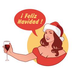 in spanish language retro style vector image