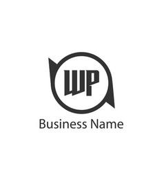 Initial letter wp logo template design vector