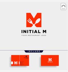 Initial m food equipment simple logo template vector