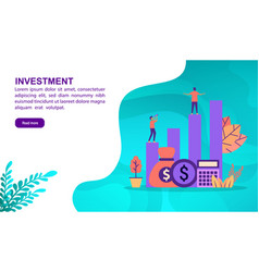 investment concept with character template for vector image