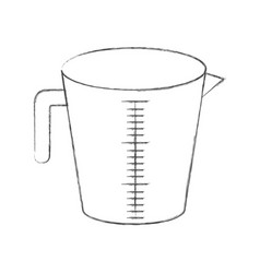 jar with handle and measure scale monochrome vector image