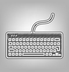 Keyboard simple sign pencil sketch vector
