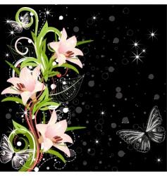 Lilies design vector