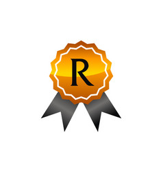 Logo quality letter r vector