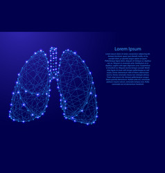 lungs human organ of respiration from futuristic vector image
