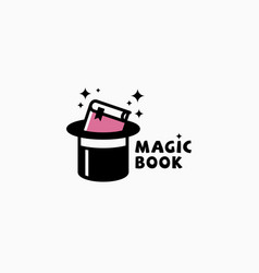 magic book logo vector image