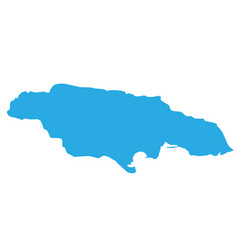 Map of jamaica high detailed map - jamaica vector