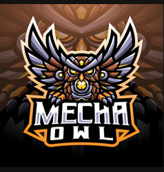 mecha owl esport mascot logo vector image