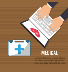 medical onilne aid health care vector image