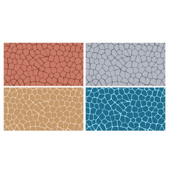 Modern stylish texture of stone plate in four vector