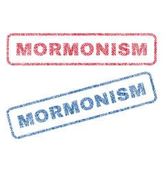Mormonism textile stamps vector