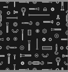 Pattern construction hardware screws bolts nuts vector