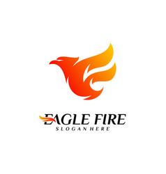 phoenix fire bird logo design concepts dove eagle vector image