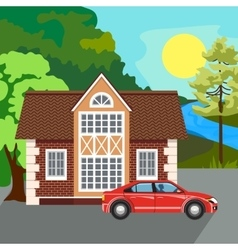 Private residential architecture vector image