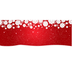 red new years christmas background with white vector image