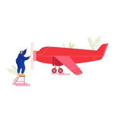 repair and maintenance aircraft concept vector image