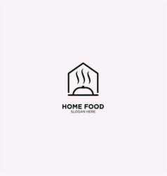 Restaurant monoline logo template vector