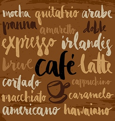 set coffee labels vector image