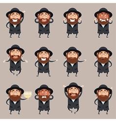 Set of Jews2 vector image