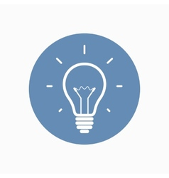 Simple light bulb icon vector