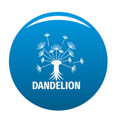 Spring dandelion logo icon blue vector