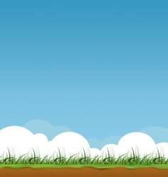 spring sky vector image