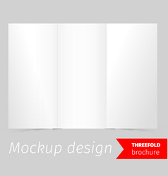 Three fold brochure mockup design vector