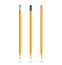 Three pencils vector