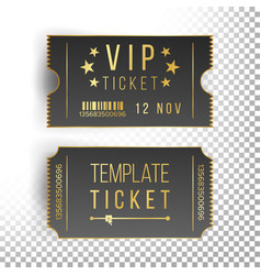 Ticket template set invitation coupon vector