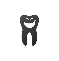 tooth dental smile icon healthy clean tooth vector image