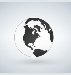 us world globe icon isolated on white background vector image
