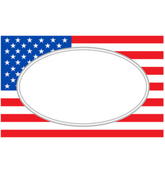 usa flag with oval frame vector image