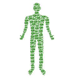 video gpu card human figure vector image