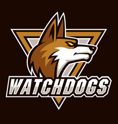 watch dogs sign and symbol logo vector image