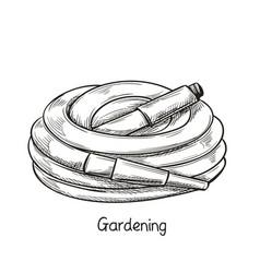 watering hose in sketch style vector image